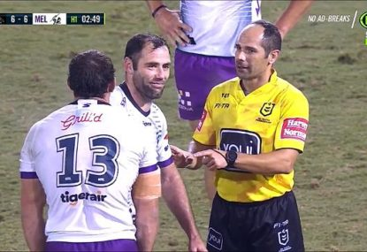LAST TIME THEY MET: Ref works out how to keep Cam Smith quiet