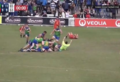 Absolute scenes as local footy club kick two goals in 80 seconds to win grand final
