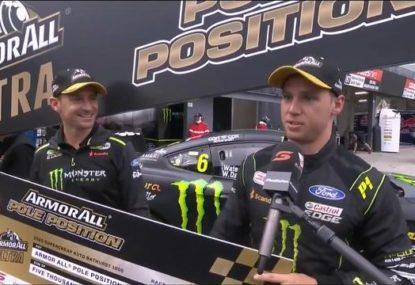 Bathurst driver gives the most Aussie interview after smashing qualifying lap record