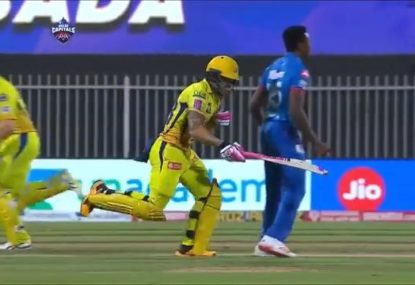 Faf poleaxes himself on Rabada in huge mid-pitch collision