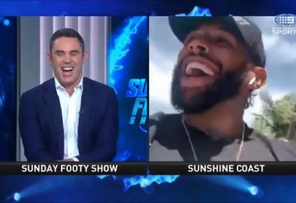 The Fox cracks up after being asked another Cameron Smith retirement question out of the blue