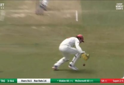 SA keeper drops the easiest catch you'll ever see