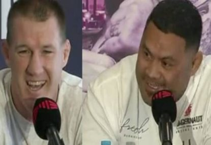 Paul Gallen and Mark Hunt have the friendliest boxing 'trash talk' in history