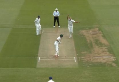 Is this the best hat-trick ball ever bowled?