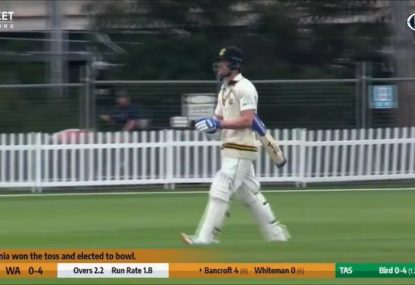 Cam Bancroft finds the weirdest possible way to get caught at leg slip AGAIN
