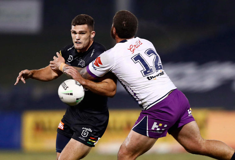 Nathan Cleary in action against the Melbourne Storm