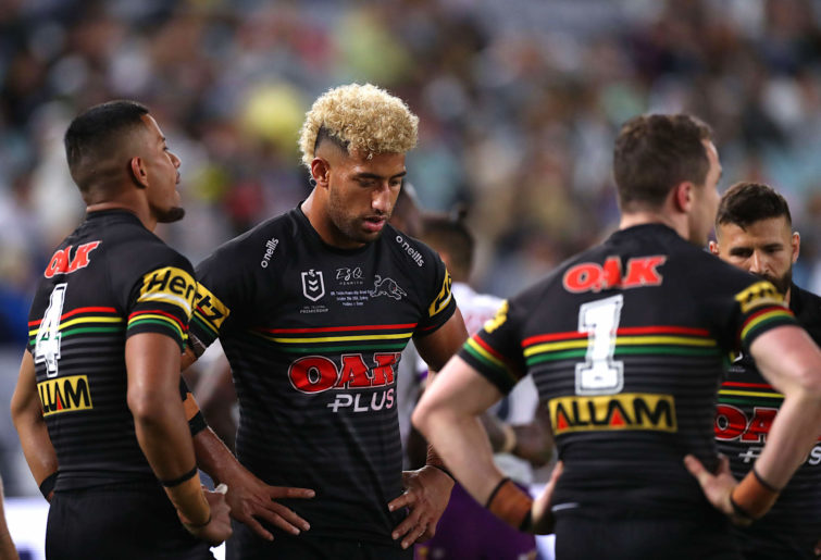 Viliame Kikau of the Panthers looks on