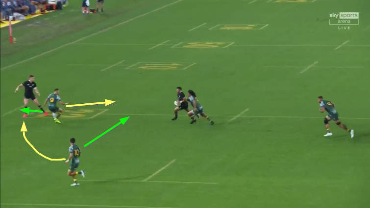 wallabies defence richie mo'unga try