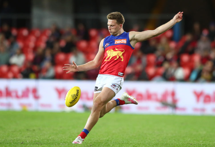 Alex Witherden of the Lions kicks