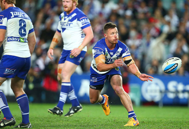 Damien Cook of the Bulldogs.