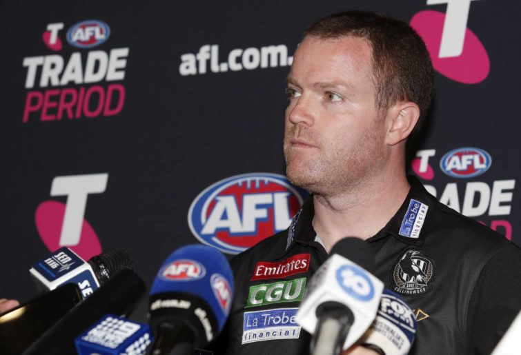 Ned Guy, List Manager of the Collingwood Magpies