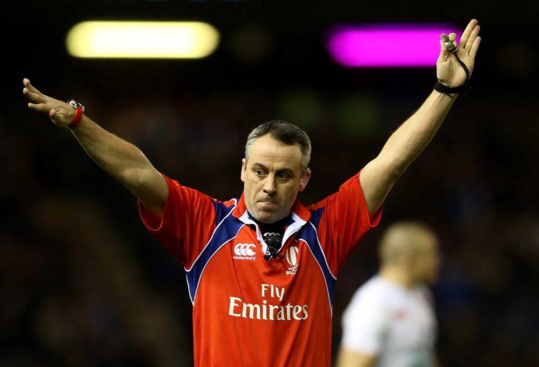 Referee John Lacey of Ireland