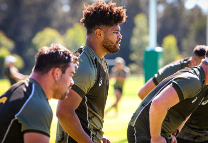 Rob Valetini at Wallabies training