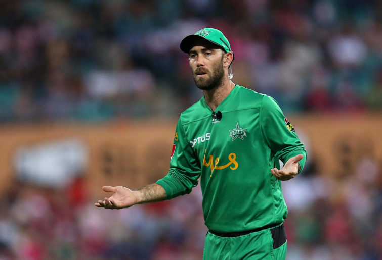 Glenn Maxwell looks on in disbelief
