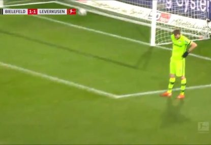 Keeper's all-time own goal howler has to be seen to be believed