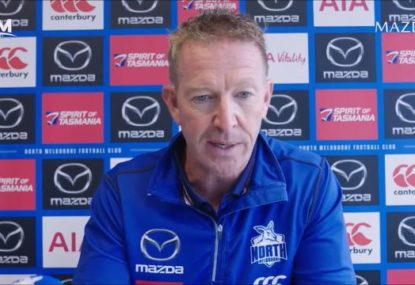 New Roos coach responds to club chairman's call for flag contention within 3 years
