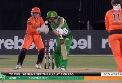 Meg Lanning bowled by an absolute peach