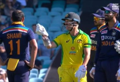 Was David Warner unlucky to be given out by the DRS?