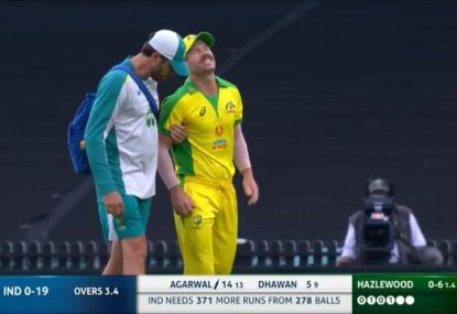 Aussies face nervous wait as David Warner suffers groin injury