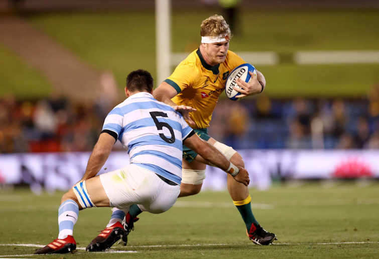 Matt Philip of Australia is tackled