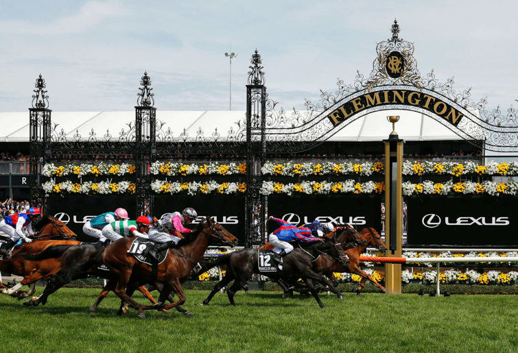 Melbourne Cup finish post