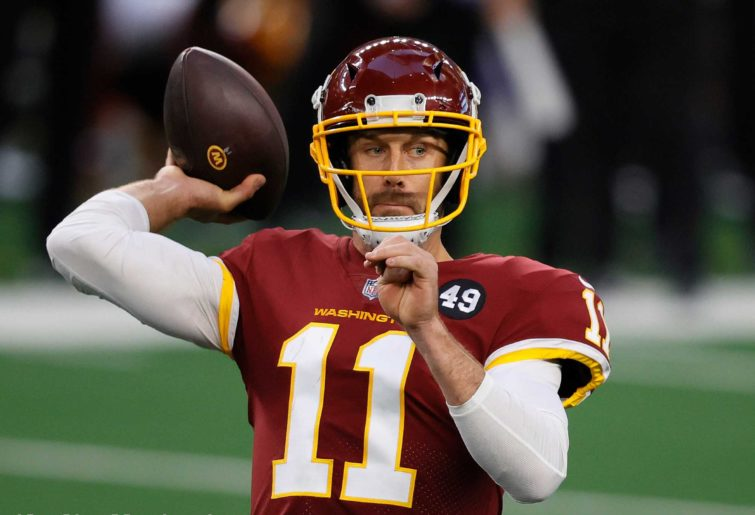 Alex Smith #11 of the Washington Football Team