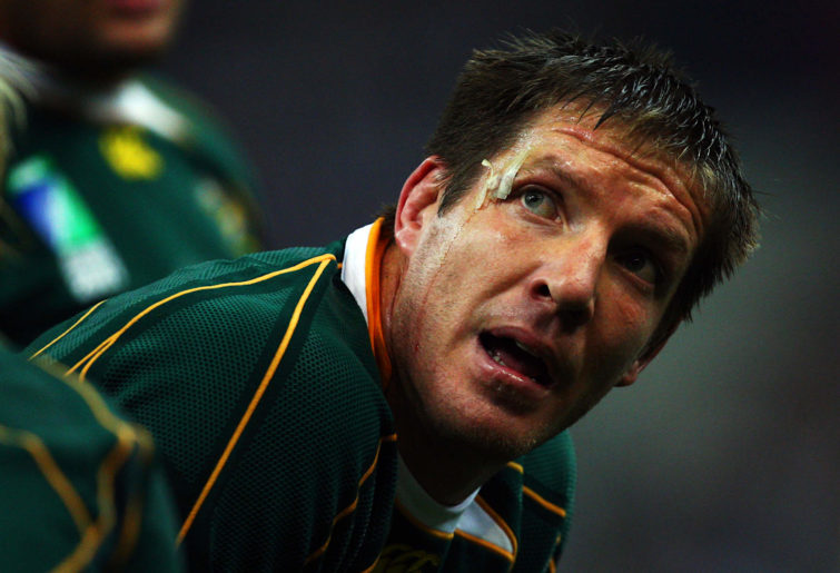 Bakkies Botha of South Africa looks on during the 2007 Rugby World Cup