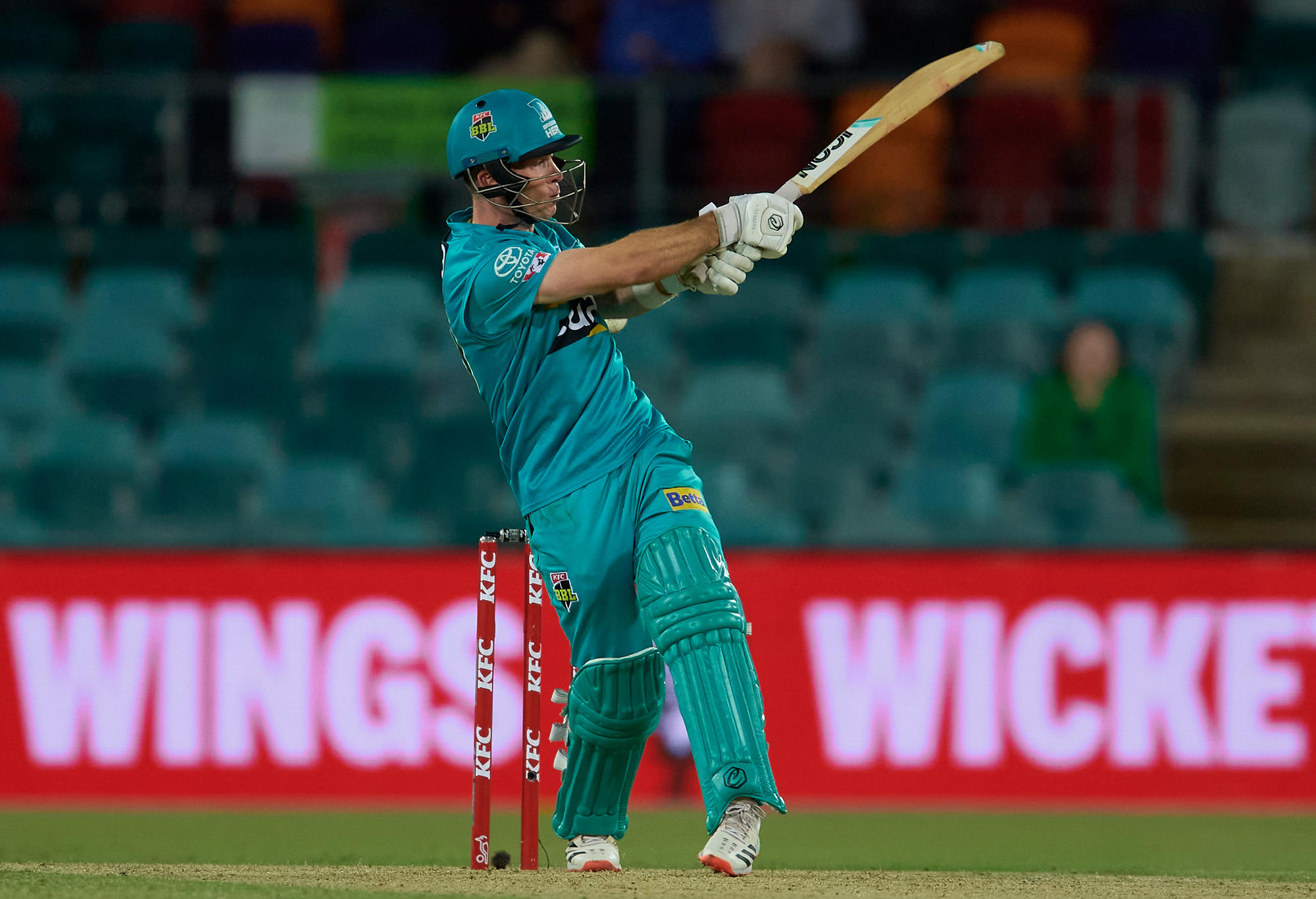 Jimmy Peirson of the Heat bats during the Big Bash League