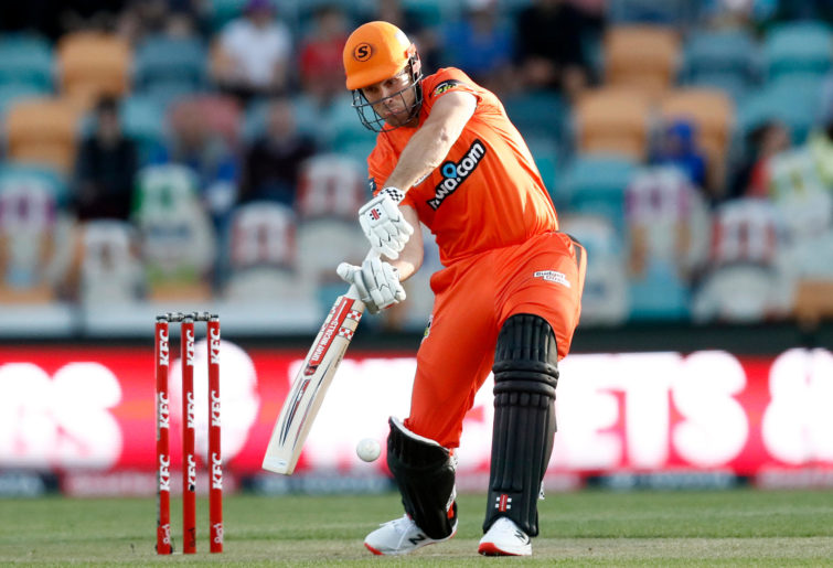 Mitch Marsh of the Perth Scorchers bats during the Big Bash League