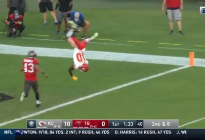 NFL player's mind-blowing effort to score a touchdown