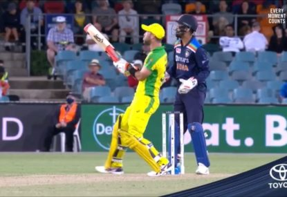 Glenn Maxwell outdoes himself with the most bonkers shot ever