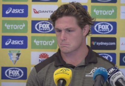 Michael Hooper's frosty response to questions over Wallabies captaincy