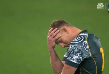 HIGHLIGHTS: Rinse, wash repeat! Another Hodge miss sees Wallabies and Pumas tie again