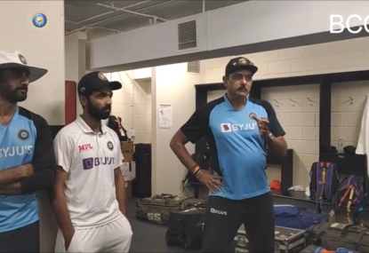 Indian coach Ravi Shastri's stirring speech to players after all-time win