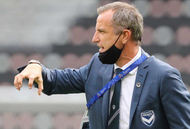 Melbourne's coach Grant Brebner