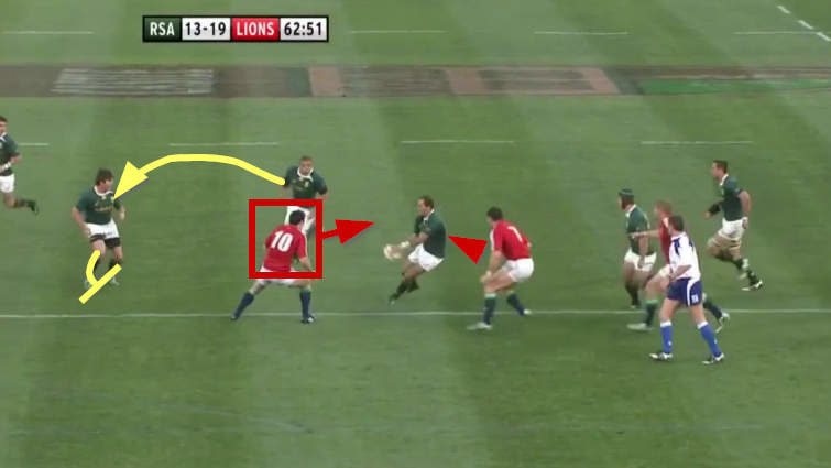springboks attack vs lions 2009