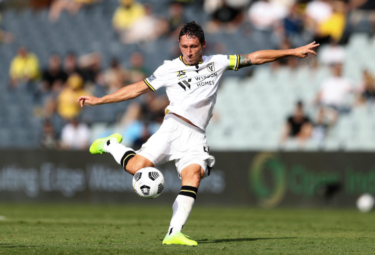 Mark Milligan of the Bulls shoots during the A-League