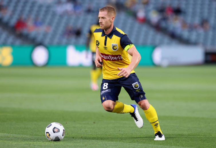 Oliver Bozanic of the Mariners in action during the A-League