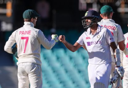 India hold on for famous draw in SCG Test