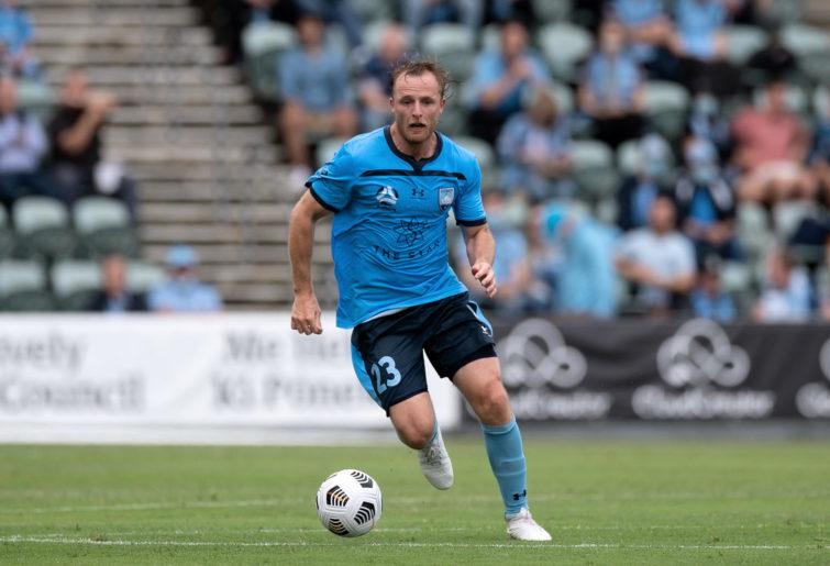 Rhyan Grant of Sydney FC controls the ball