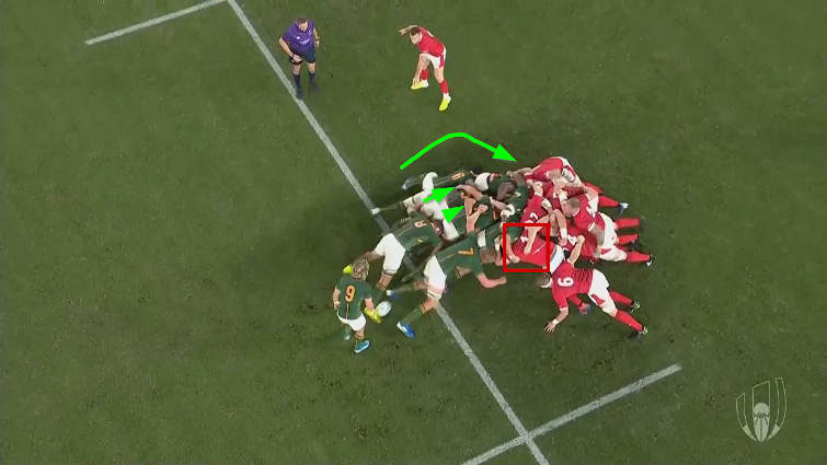 springboks vs wales scrum