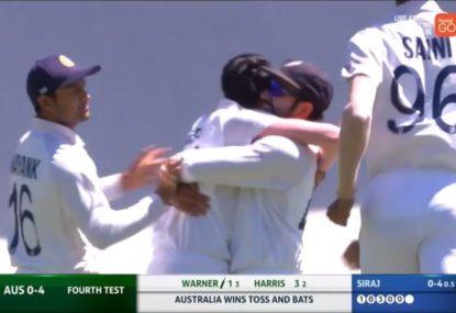 Slips SCREAMER gives India dream start to the fourth Test