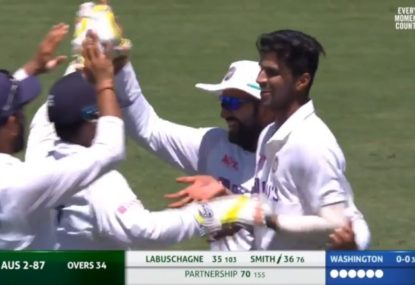 Indian spinner picks up Steve Smith on debut