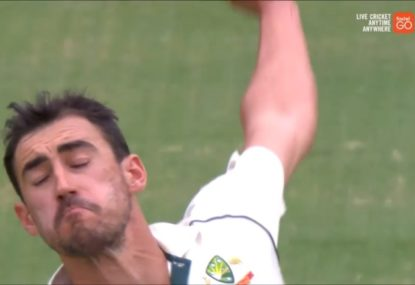 Mitchell Starc's unorthodox bowling technique bewilders commentators
