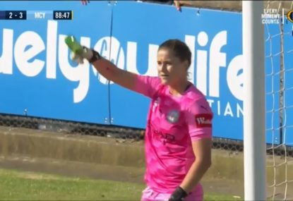 Disgraceful scenes as fans throw bottles at keeper during W-League Melbourne Derby