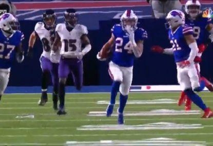Bills go the length of the field for spectacular 101-yard intercept TD