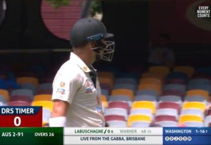 Did the umpires make a blue in allowing David Warner to review after the timer?
