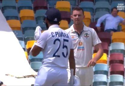 Josh Hazlewood slammed for verbals after hitting Pujara in the head