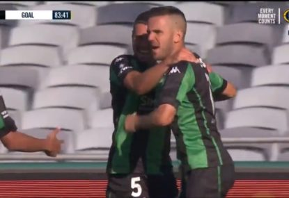 Utter insanity as A-League thriller sees EIGHT goals scored in half an hour