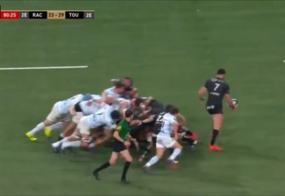 Toulon captain gives teammates heart attack with epic post-siren howler